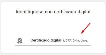 Acceder con certificado digital